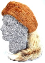 Daniel Boone Red Fox Fur Hat with Real Fox Tail Size Large - $18.00