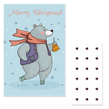 Winter Bear Pin The Nose Christmas Party Game - £16.17 GBP