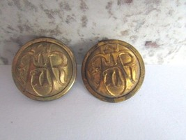 Two GAR Grand Army of the Republic Confederate Buttons Waterbury Scoville - $12.00