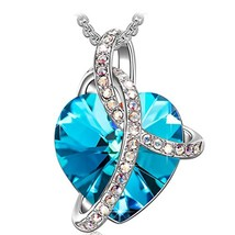 SIVERY Birthday Gifts 'Love Heart' Women Jewelry Necklace Pendant with (... - $35.73
