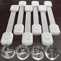 Multipurpose Baby Safety Cabinet Lock Latch Kit - 6 PACK Adjustable Lock... - $9.80