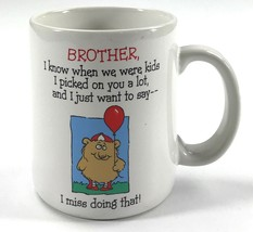 Brother, I Miss Doing That Shoebox Greetings Cartoon White Tea Coffee Mu... - $10.68