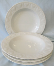 Williams Sonoma Embossed White Hearts and Dots Soup or Salad Bowl set of... - $28.60