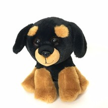 "TY VelveTy Trevour Puppy Dog Beanie Plush Stuffed Animal 6"" Tall Black B... - $19.80"