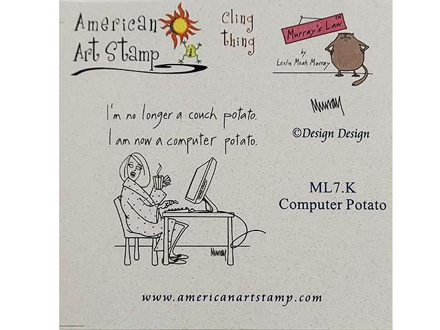 American Art Computer Potato Rubber Stamp #CT-ML7