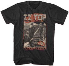 ZZ Top-Hombres on Railroad Tracks-X-Large Black T-shirt - $17.41