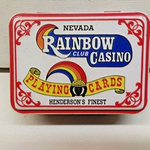 Vintage Rainbow Club Casino Playing Card Tin (Tin Only) ~ Henderson NV (A) - $9.66