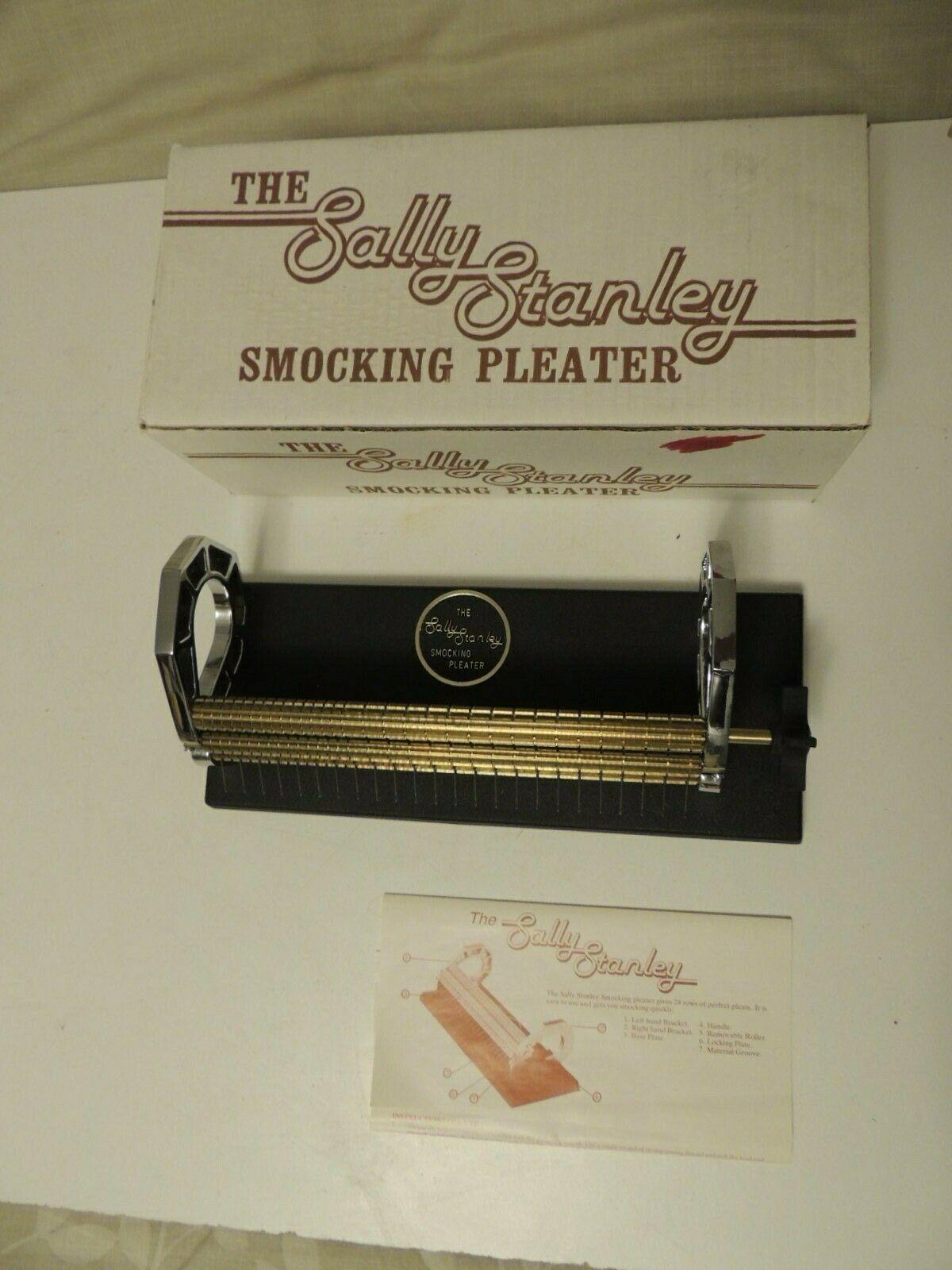 Sally Stanley Smocking Pleater 24-Row Needles Manual & Box EUC