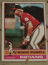 Boog Powell, Indians, 1976  #45 Topps Baseball Card,  GOOD CONDITION - $0.99