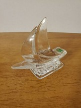 "KRISTAL COLOR 5"" SAILBOAT CRYSTAL FIGURINE PAPERWEIGHT - $29.95"
