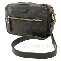 GUCCI JOY Guccissima Leather Black GG Shoulder Bag 201447 Authentic 5461431 - $459.57