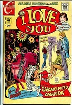 I Love You #95 1972-Charlton-Woman's Lib issue-David Cassidy pin-up post... - $63.05