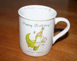 Happy Birthday Alligator Mug 1985 Hallmark Rim Shots Let the Good Times ... - $9.99