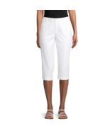 St. John's Bay Mid Rise Capris Size 14 New White  - $14.99
