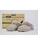 Kirkland Signature Ladies' Shearling Slipper, Size 7, Grey NEW IN BOX - $39.00