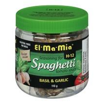 El Ma Mia Seasoning for Spaghetti Sauce Basil and Garlic 110g FRESH CANADA - $9.85
