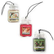 Yankee Candle 3 Pack Car Jar Christmas Cookie, Balsam & Cedar Sparkling ... - $18.69