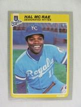 Hal McRae Kansas City Royals 1985 Fleer Baseball Card Number 207 - $0.98
