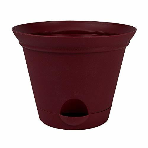 Primary image for Red Plastic Self Watering Flower Pot 7, 9.5, or 11.5 Inch Planter Garden TkPlumb