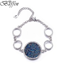 Hot Fashion Rhodium Plated Bracelets for Woman With Crystals From Swarov... - $30.40