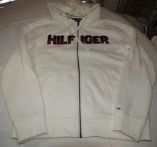 Mens Tommy Hilfiger L large Fleece zip up jacket long slv 78B6449 118 **Lines - $65.33