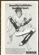 1979 Schrade Old Timer Lockblade Knives PRINT AD Beautiful Beasts At Heart - $8.69