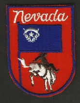 VINTAGE NEVADA EMBROIDERED CLOTH SOUVENIR TRAVEL PATCH - $9.95