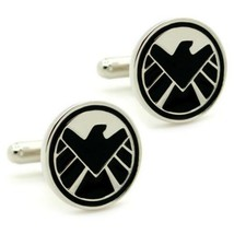 S.H.I.E.L.D. Cufflinks Super Hero Comic W Gift Bag Pair Shield Avengers Agents - $8.95