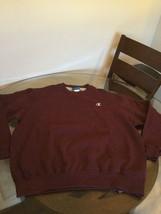 NWT Champion Eco Fleece Maroon Crew Neck Sweatshirt XL Brand New With Ta... - $19.79
