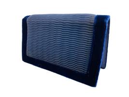 Soure Bag Evening Purse Clutch Midnight Blue Velvet Envelope Bag ART DECO - $56.95