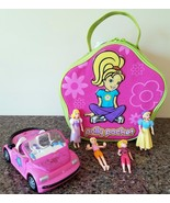 POLLY POCKET Carrying Bag Storage Travel Case Take Along Zipper Closure ... - $34.65