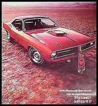 1970 Plymouth Barracuda Brochure-  Gran Coupe, 'Cuda Convertible MoPar Xlnt - $79.20