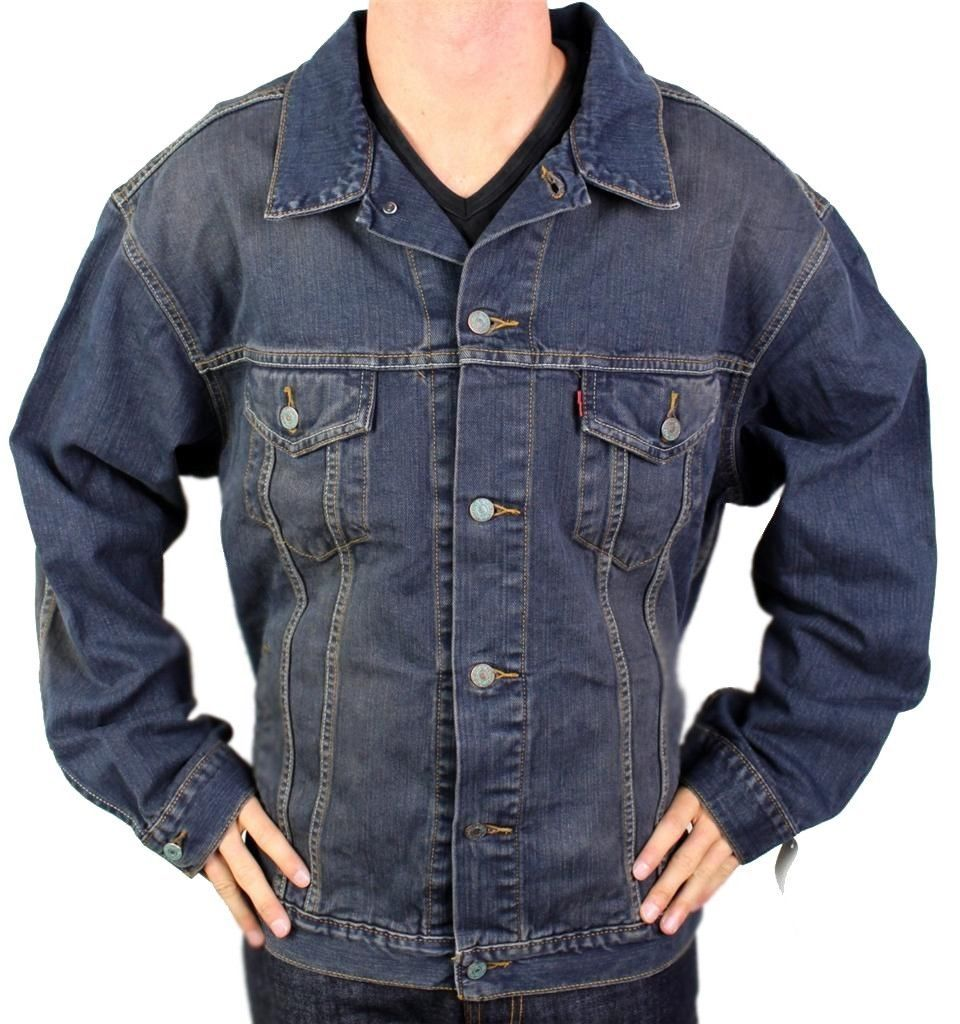 Levi's Men's Premium Cotton Button Up Denim Jeans Jacket 705070604