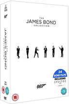James Bond 24 Film Collection DVD Box Set New *REGION 2 PLEASE READ LIST... - $78.95