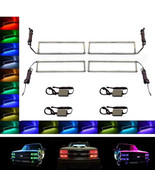 88-98 Chevy GMC Truck Multi-Color Changing LED Shift RGB Headlight Halo ... - $169.95
