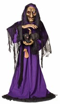 MATILDA ANIMATED WITCH BLACK CAT HALLOWEEN LIFE SIZE PROP Haunted House - €100,24 EUR