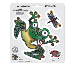 Frog Mushroom Dragonfly Sticker Set  Car Decal  Hippie  - $5.49