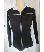 Made for Life  Black/White Active wear full zip jacket Size M - $6.99