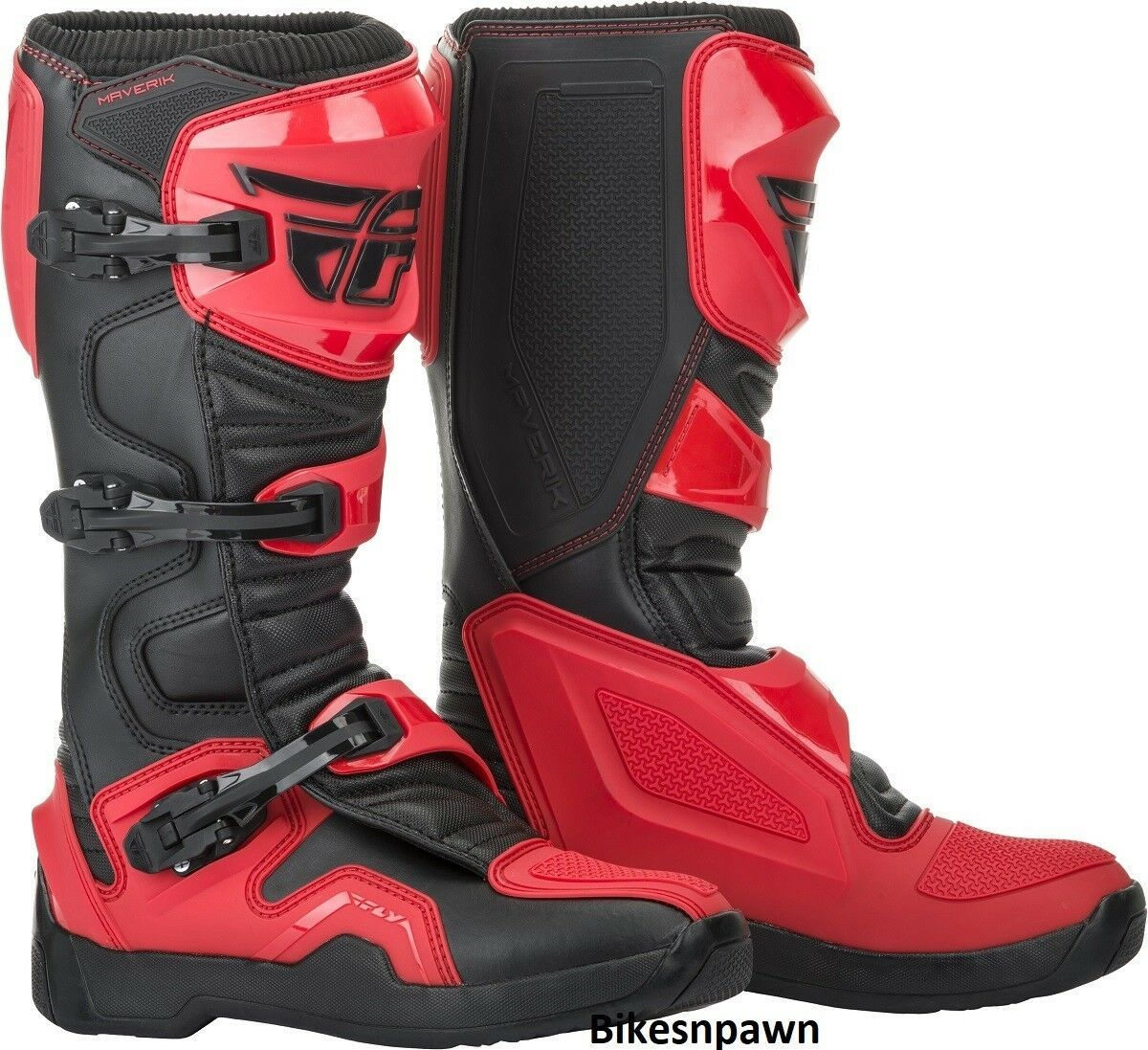 New 2019 Adult Size 12 Fly Racing Maverik Red & Black Motocross MX ATV Boots