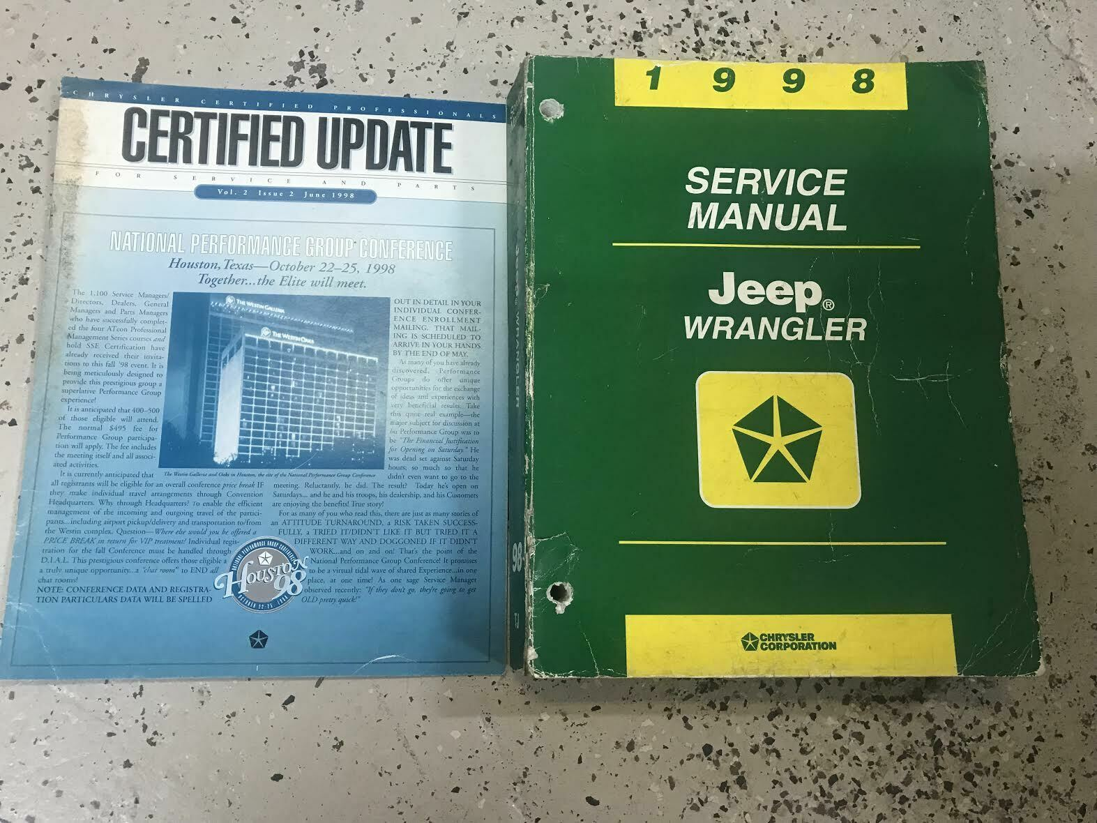 1998 JEEP WRANGLER Service Workshop Shop Repair Manual Set W Extra OEM