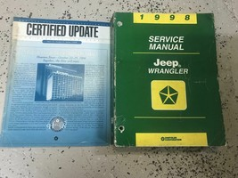 1998 JEEP WRANGLER Service Workshop Shop Repair Manual Set W Extra OEM - $76.73