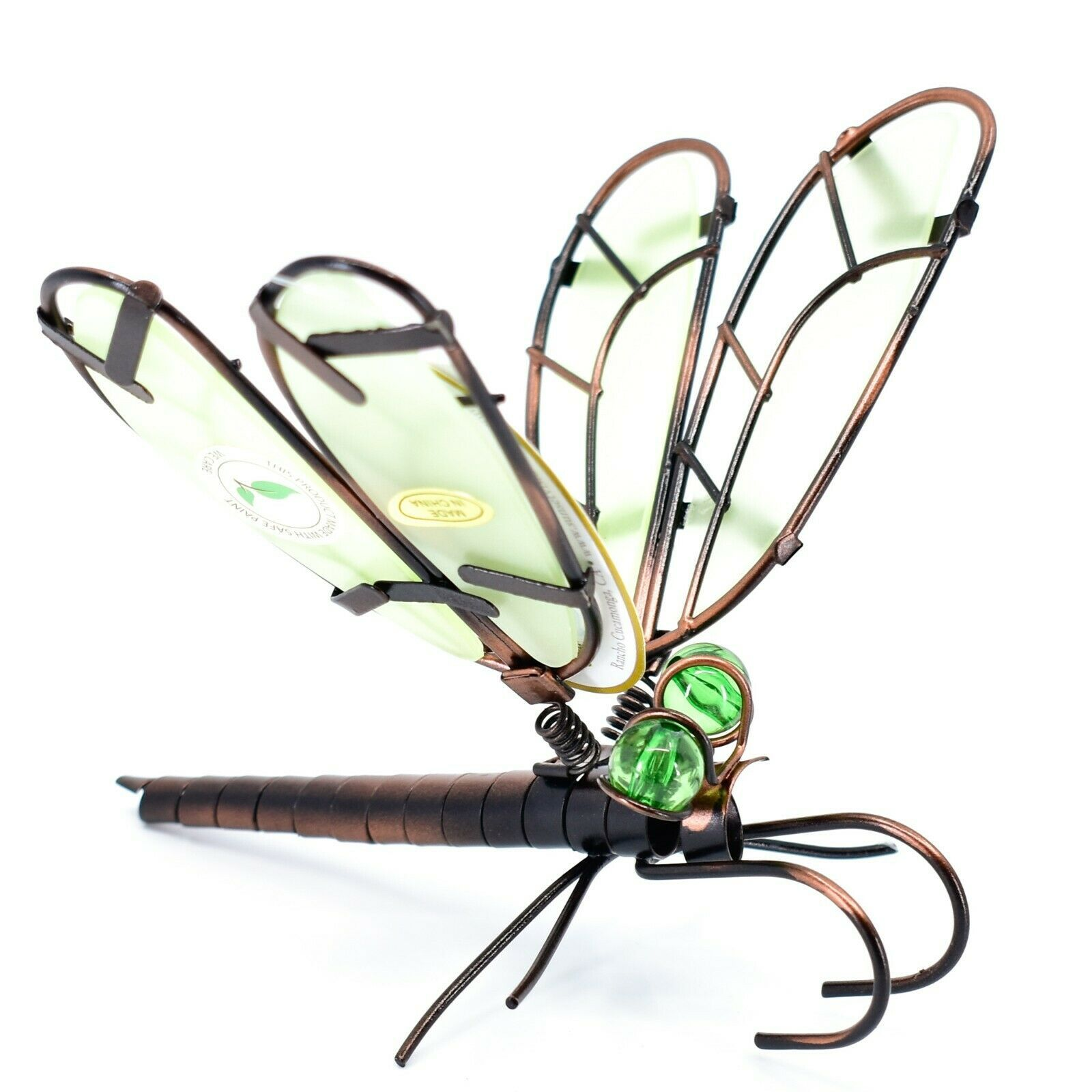 Dragonfly with Glow in the Dark Wing Pot Edge Sitter on Hook Garden Decoration
