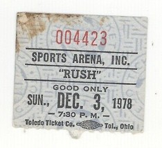Rush the band & Golden Earring 12/3/78 Toledo Sports Arena Concert Ticke... - $29.69