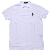 New Polo Ralph Lauren Mens Custom Fit Bear Logo Polo Shirt White XXL 3626-3 - $79.19