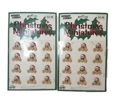 Hobby Lobby Christmas Polystone X'mas Teddy Bear Mini Decorations NOS  - $17.42
