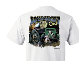 T-shirt Shirt Hound Dog Coon Hunter Raccoon Hunting Boys Night Out - $10.99+