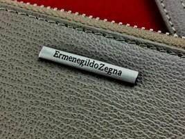 Ermenegildo Zegna Grey Canvas Zip Travel Multitasking Card Holder Clutch... - $303.99