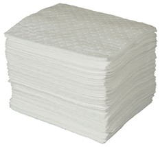 """Brady SPC Basic Oil-Only Heavy Weight Absorbent Pad, White, 15"""" L x 17"""" ... - $39.26"""