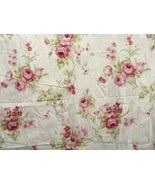 Laura Ashley Rose Floral 2-PC 80 x 84 Drapery Panels - $84.00
