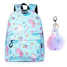 SEDEX Unicorn Backpack Lightweight (Blue Shooting Star Unicorn With Keyc... - $25.58